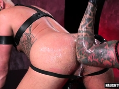 Tattoo jock fetish with cumshot