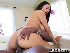 Black beauty and hot Bethany Benz gets her holes destroyed