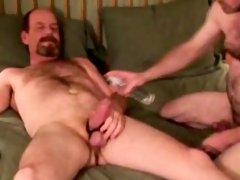 Mature amateur bears anal teasing
