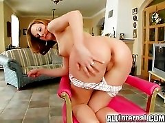 Skinny girl threesome with hot creampies
