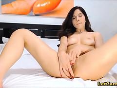 Long leg sexy camgirl anal play