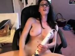 Cute Girl With Glasses Masturbates