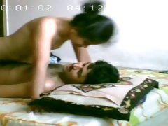 Naked Skinny Indian Wife riding husbands dick