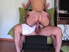 Sensuous amateur babe in stockings is addicted to anal sex