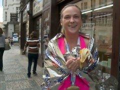 Prague marathon girl