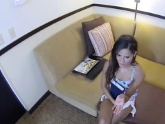 Hot legs Jenny fucked for cash on spy glasses