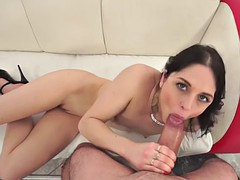 kinky brunette sucking