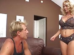 Milf blonde big tits fucks hard