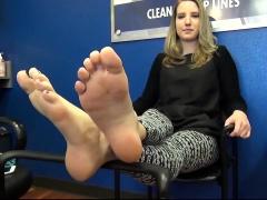 Foot fetish blonde wife