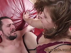 Pinned down and spat on