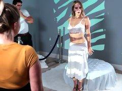Aspiring artist Cadence Lux reveals her sexy lingerie look in an avant-garde performance art piece
