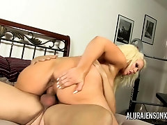 Alura Jenson pulverized and creampied by the gardener