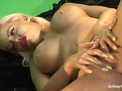Britney Amber big tits covered in paint