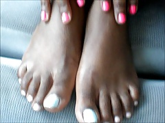 Black Girl Blue Toes