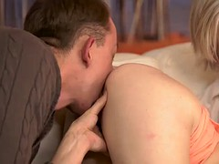 daddy4k. submissive redhead enjoys pussy fingering for