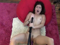 There Is a Sizable Dildo Entering A Hottie