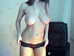 Beautiful neighbor undressing on webcam