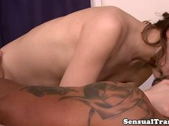 Interracial trans masseuse fucked bareback