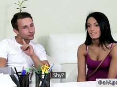 Inexperienced duo boinking on audition on bed