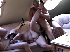 boy gets crazy vacation with mature mothers