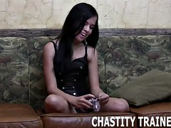 surrender your cock and let me lock you in chastity
