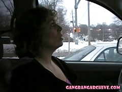 Interracial gangbang archive - white MILF fucked by BBC