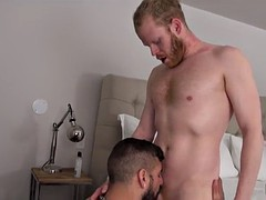 hairy bear oral sex with eating cum