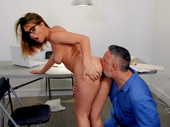 Sexual perfection at the office for the busty secretary