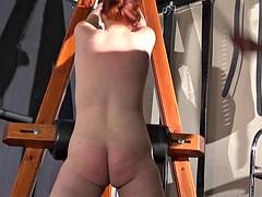 man brutally mocks body of red chubby slut