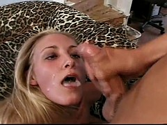 angel long horny blonde gets her ass