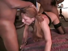 Hot wife having a bbc threesome