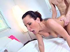 bosomy milf lezley zen gets fucked by a younger stud doggystyle