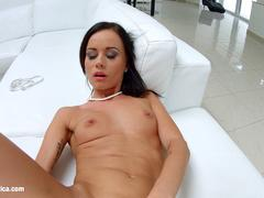 Tina Teen using fingers solo on Sapphix