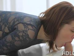 very hot and romantic session with a hot redhead