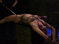 Abusing slaves mouth and head down bondage Engine issues