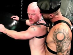 Leather raw dawged stud