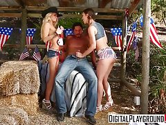 DigitalPlayground - Jade Nile Jessa Rhodes Tommy Gunn - 4th