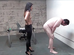 Hot cruel Asian mistress Extreme cruel ballbusting