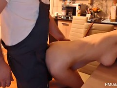 wife getting fucked in the kitchen doggystyle