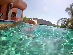 Alix Lynx under water nude video
