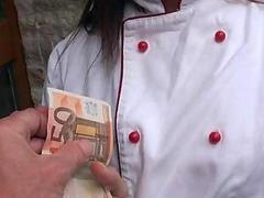 Czech girl in uniform analyzed for cash