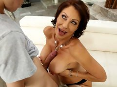 Astonishing MILF Vanessa Videl is pleasing a lucky young man