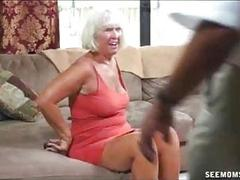 Horny Granny Grabs The Thick Rod Of Guard