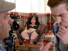 Beauty with good natural tits Jennifer White likes his young dick