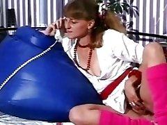 Retro milf beauty masturbates hairy pussy in Danish vintage porn