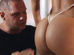 Nacho Vidal fingers Franceskas wet pussy