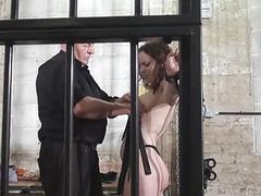 Whipped tits and rigid spanking of enslaved Beau