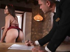 Beautiful small-tit chick Adriana Chechik screwed in the garden