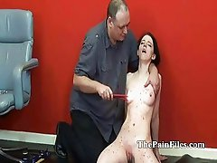Burning Teen Slavegirl Kami in tears and torments