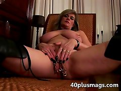 Big pierced mature pussy toy fucking. Watch this blonde hardcore loving wife fucking her pierced cunt with toy dicks